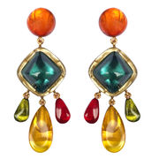 Dominique Denaive Multicolor Statement Earrings, Bluesea