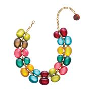 Dominique Denaive Multicolor Bubble Necklace