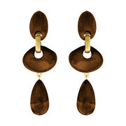 Dominique Denaive Chocolate Brown Earrings