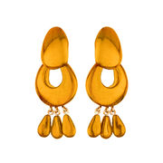 Dominique Denaive Bold Golden Yellow Earrings