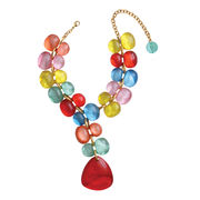 Dominique Denaive Candy Color Statement Necklace