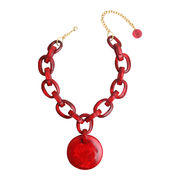 Dominique Denaive Red Chain Pendant