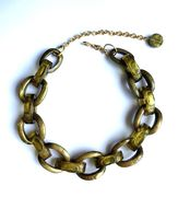 Dominique Denaive Pearly Olive Green Chain