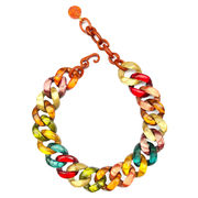 Dominique Denaive Multicolor Chain Necklace