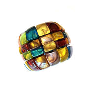 Dominique Denaive Multicolor Chess Bracelet