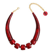 Dominique Denaive True Red Collar Necklace