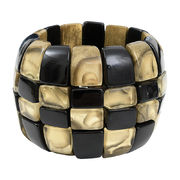 Dominique Denaive Art Deco Chess Bracelet