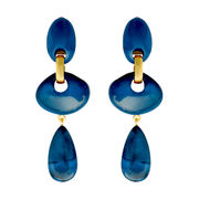 Dominique Denaive Deep Blue Earrings