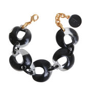 Dominique Denaive Black &  Clear Bracelet