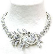 Dori Csengeri White Swarovski Crystal Necklace
