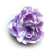 Pale Lavender Flower Brooch / Hair Pin