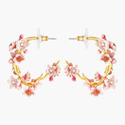 Les Néréides Japanese Cherry Blossom Hoop Earrings