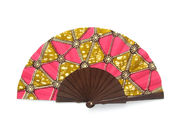Olelé Hot Pink & Ochre Hand Fan