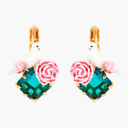 Les Néréides Dove and Peony Earrings
