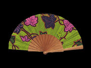 Olelé Lime Green Flower Hand Fan