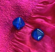 Marion Godart Blue Resin Earrings