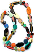Marion Godart Long Multicolor Resin Necklace