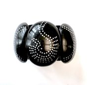 Marion Godart Black Resin Bangle