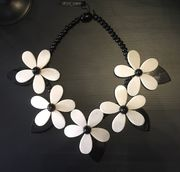Marion Godart Black and White Flower Necklace