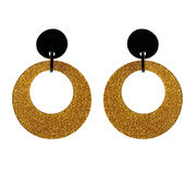 Marion Godart Gold Glitter Hoop Earrings