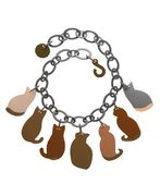 Marion Godart Necklace with Cats