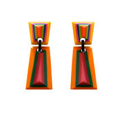 Marion Godart Geometric Earrings in Retro Colors
