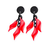Marion Godart Red Leaf Earrings