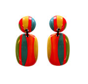 Marion Godart Multicolor Retro Rainbow Earrings