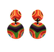 Marion Godart Psychedelic Retro Earrings