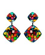 Marion Godart's Multicolor Mosaic Earrings