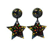 Marion Godart Multicolor Mosaic Star Earrings