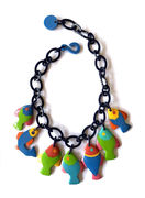 Marion Godart Colorful Necklace with Funny Fishes