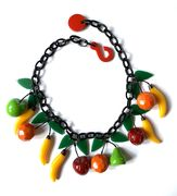 Marion Godart Necklace with Miniature Fruits