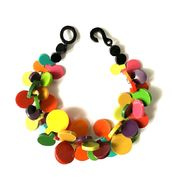 Marion Godart Warm Multicolor Resin Coins Necklace