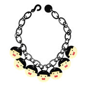 Marion Godart Playful Face Necklace