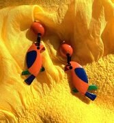 Marion Godart Orange Parrot Earrings