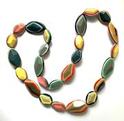 Marion Godart Medium Long Multicolor Resin Necklace