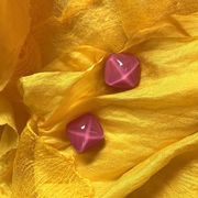 Marion Godart Pink Resin Earrings