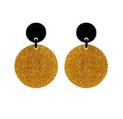 Marion Godart Round Earrings with Gold Glitter