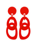 Marion Godart True Red Double Hoop Earrings