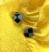 Marion Godart Grey & Black Check Earrings