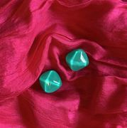 Marion Godart Turquoise Resin Earrings