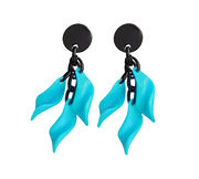 Marion Godart Turquoise Leaf Earrings