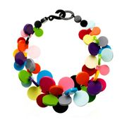 Marion Godart Multicolor Resin Coins Necklace
