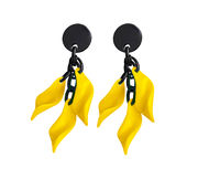 Marion Godart Yellow Leaf Earrings