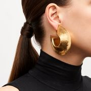 Monies Earrings in Acacia and Gold Foil