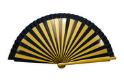 Striped Art Deco Hand Fan