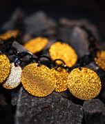 Marion Godart Necklace with Gold Glitter Resin Coins