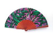 Olelé Purple Green Arfican Styled Hand Fan