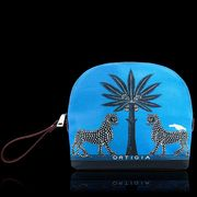 Ortigia Turquoise Blue Canvas Bag